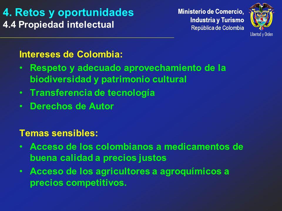 4. Retos y oportunidades 4.4 Propiedad intelectual