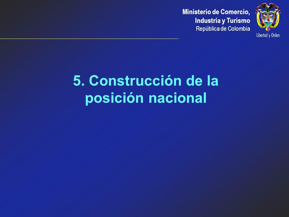 5. Construcción de la posición nacional