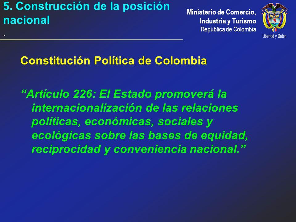 5. Construcción de la posición nacional .