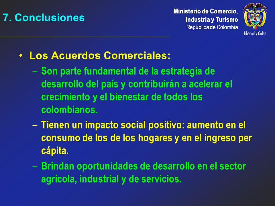 7. Conclusiones Los Acuerdos Comerciales: