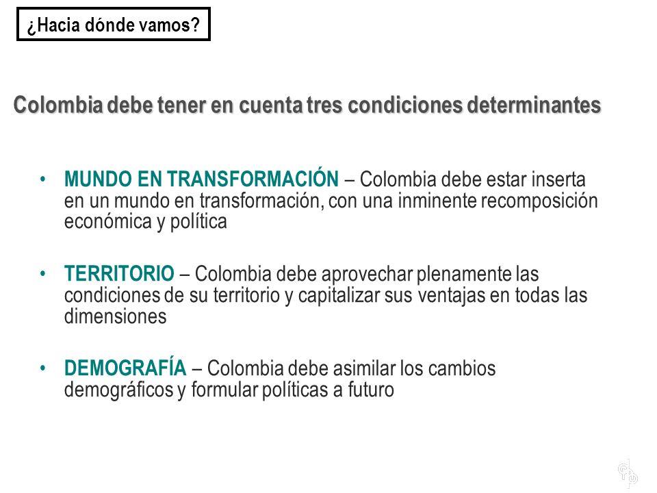 Colombia debe tener en cuenta tres condiciones determinantes