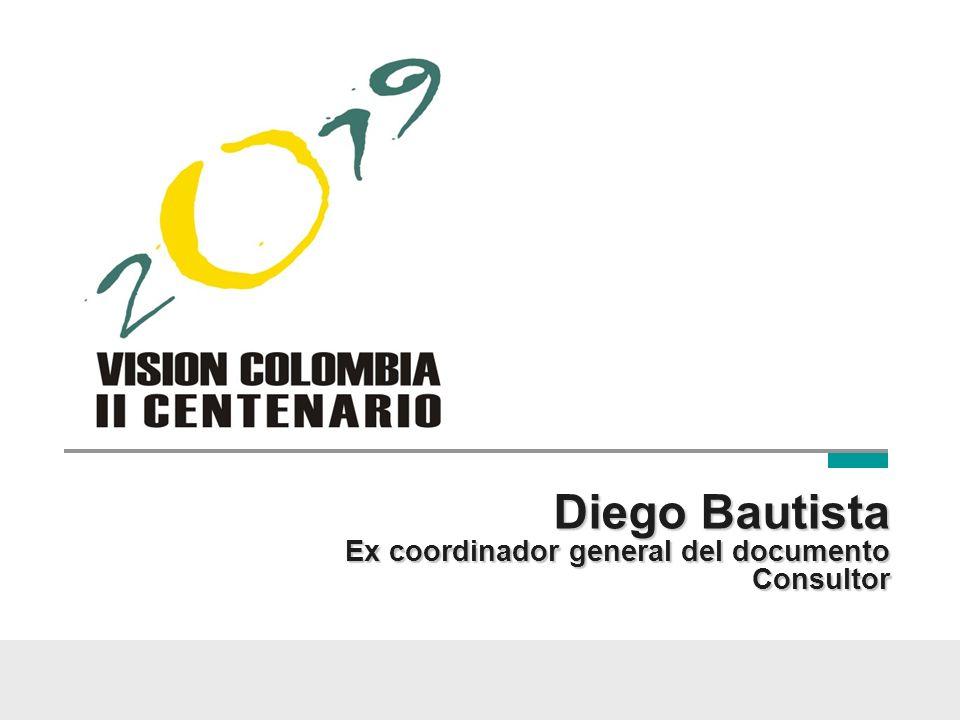 Diego Bautista Ex coordinador general del documento Consultor