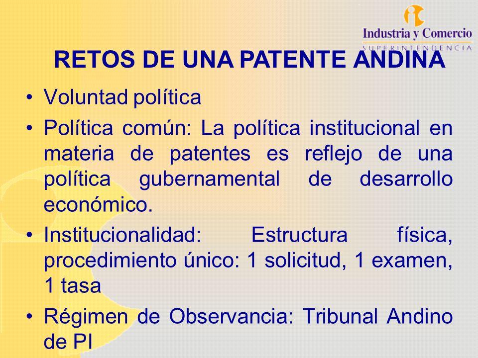RETOS DE UNA PATENTE ANDINA
