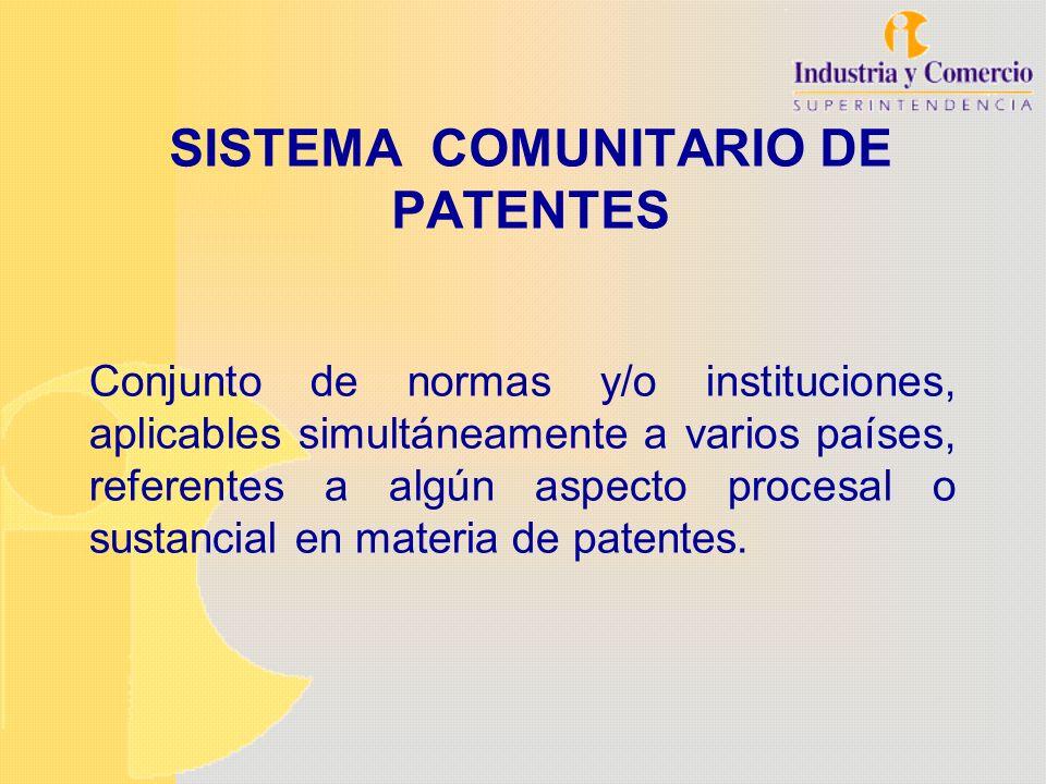 SISTEMA COMUNITARIO DE PATENTES