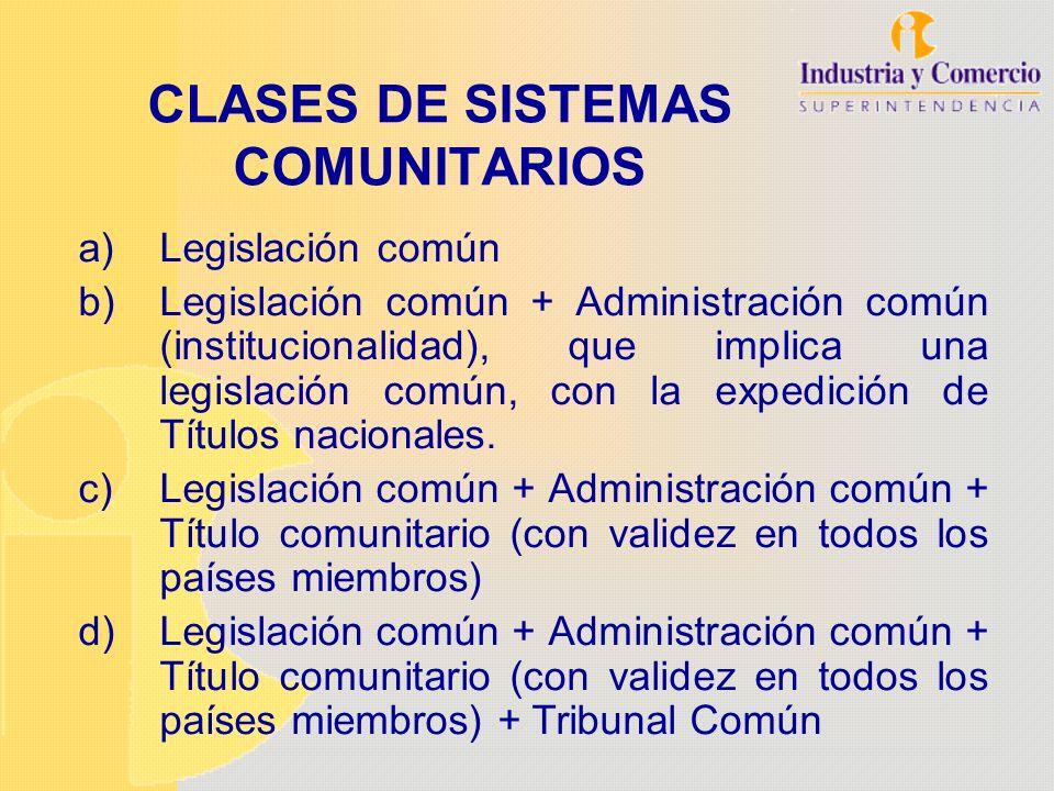 CLASES DE SISTEMAS COMUNITARIOS