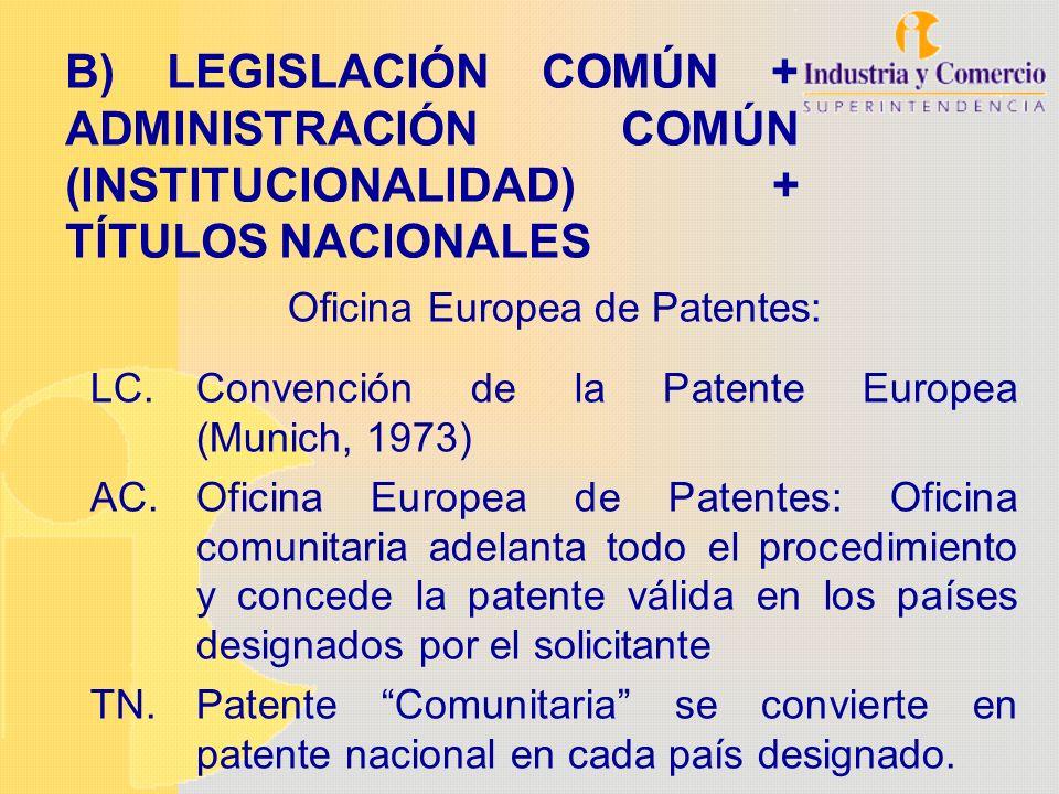 B) LEGISLACIÓN COMÚN + ADMINISTRACIÓN COMÚN (INSTITUCIONALIDAD) + TÍTULOS NACIONALES