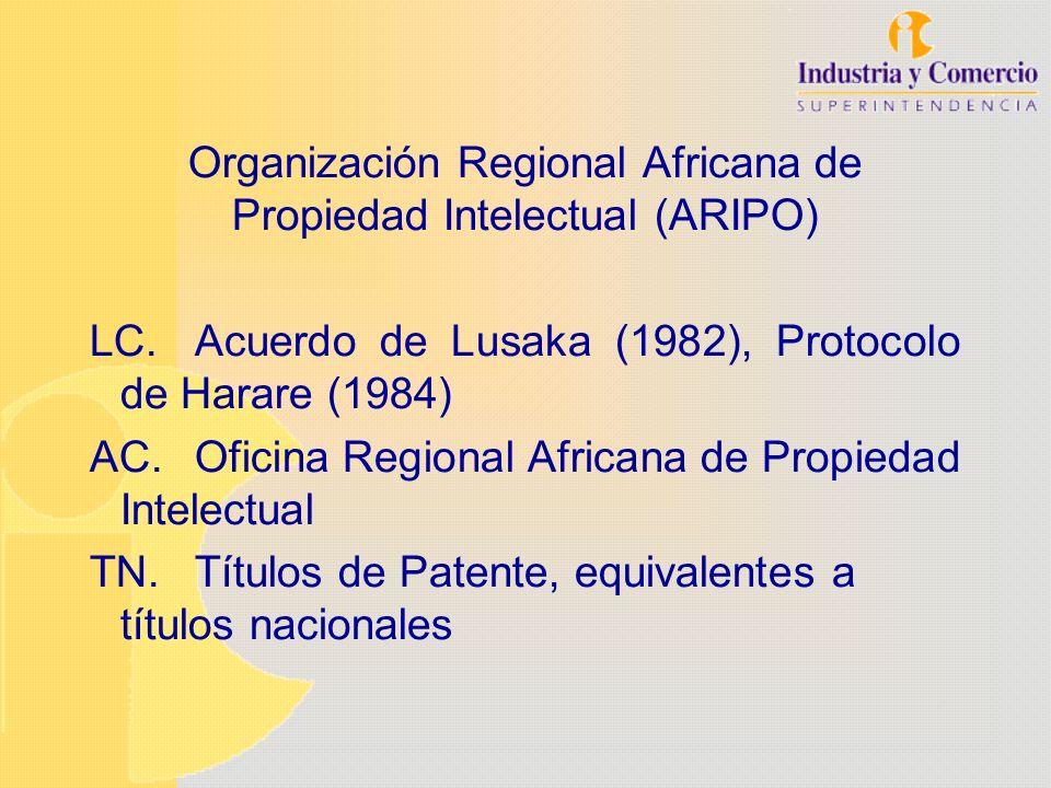 Organización Regional Africana de Propiedad Intelectual (ARIPO) LC