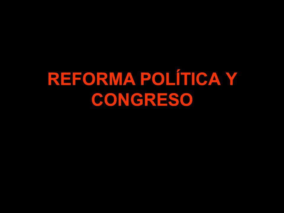 REFORMA POLÍTICA Y CONGRESO