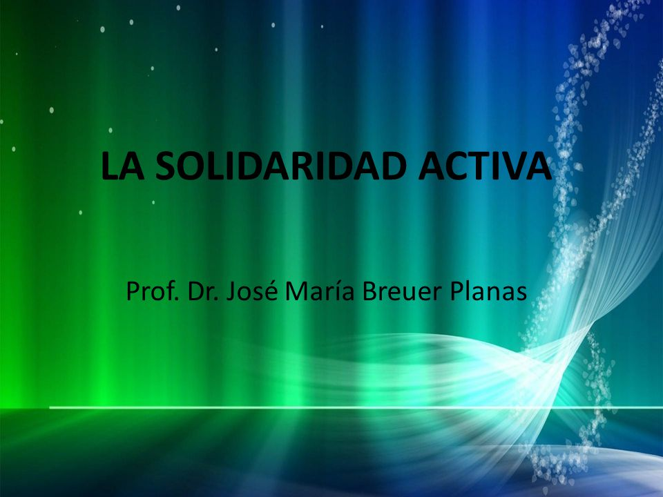 Prof. Dr. José María Breuer Planas