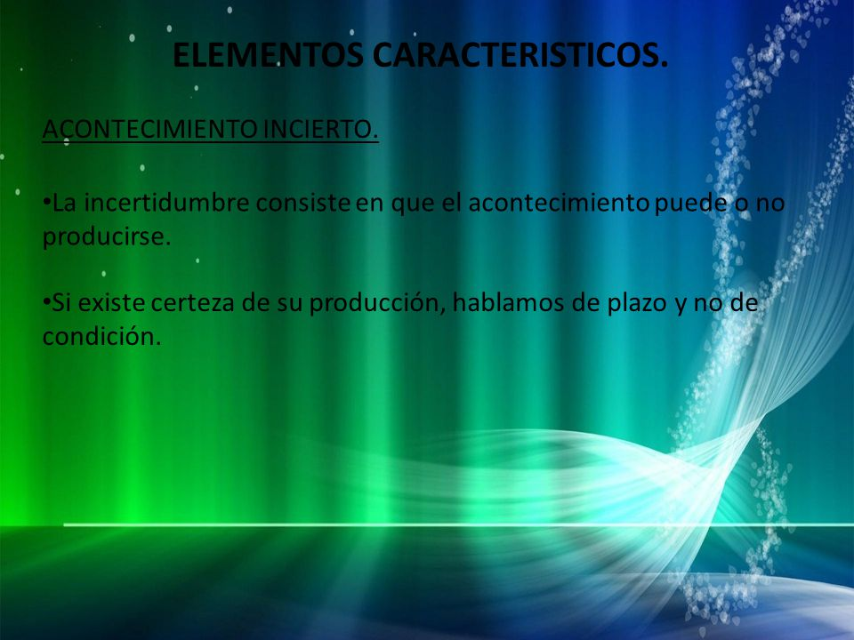 ELEMENTOS CARACTERISTICOS.