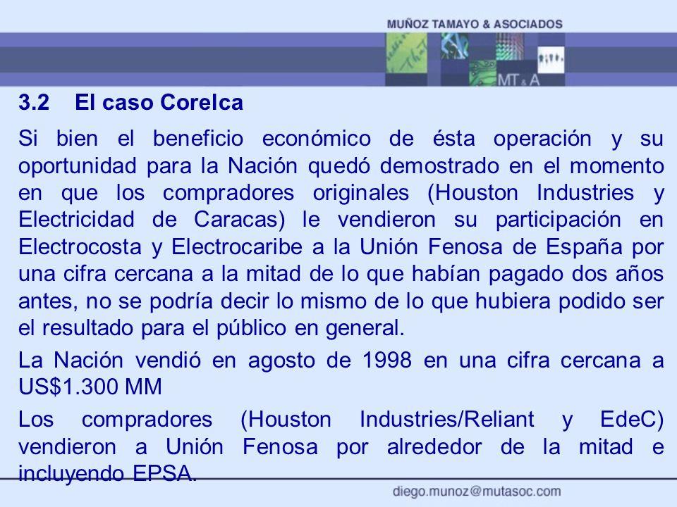 3.2 El caso Corelca