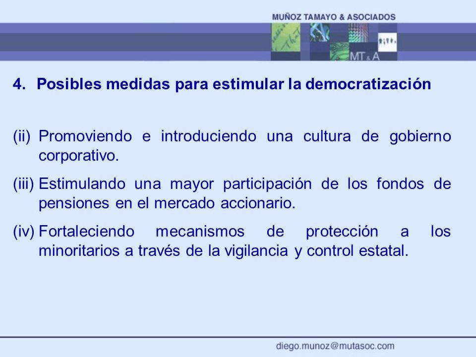 Posibles medidas para estimular la democratización