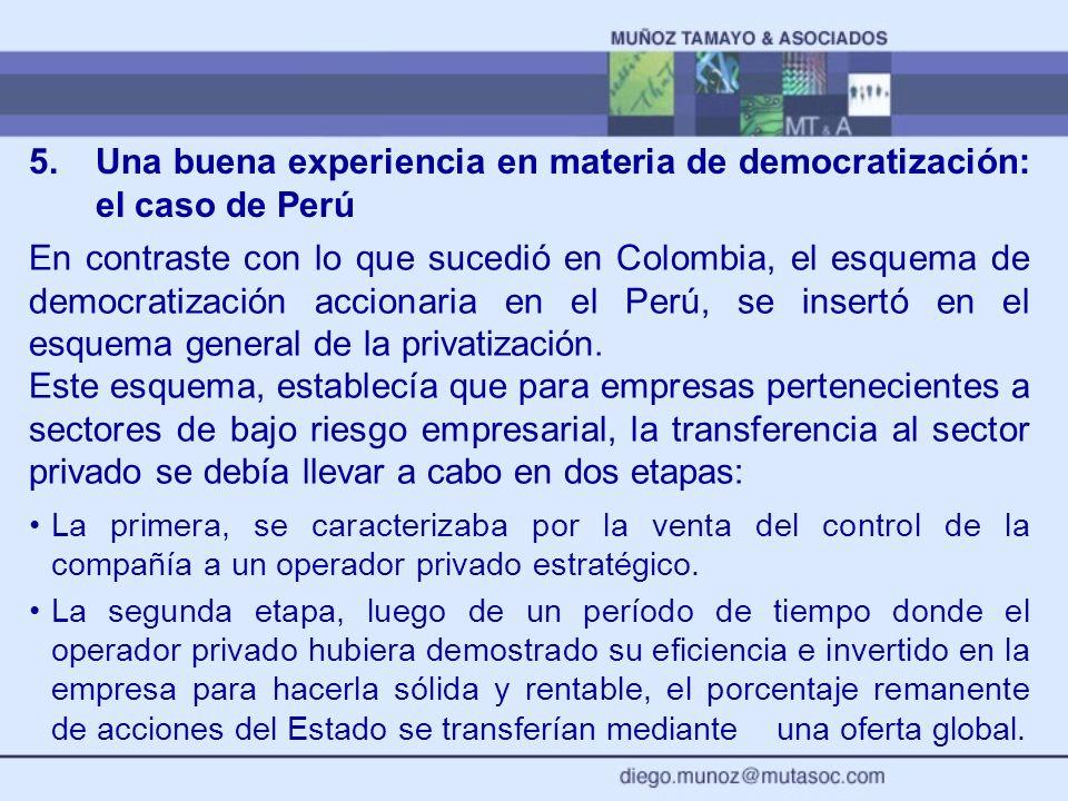 5. Una buena experiencia en materia de democratización: el caso de Perú