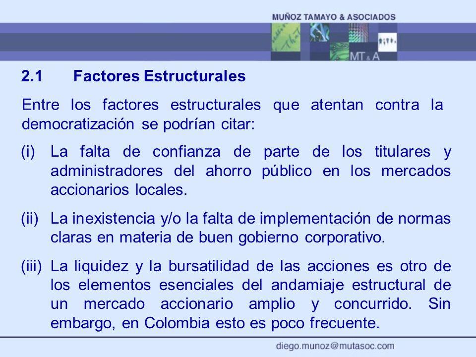 2.1 Factores Estructurales