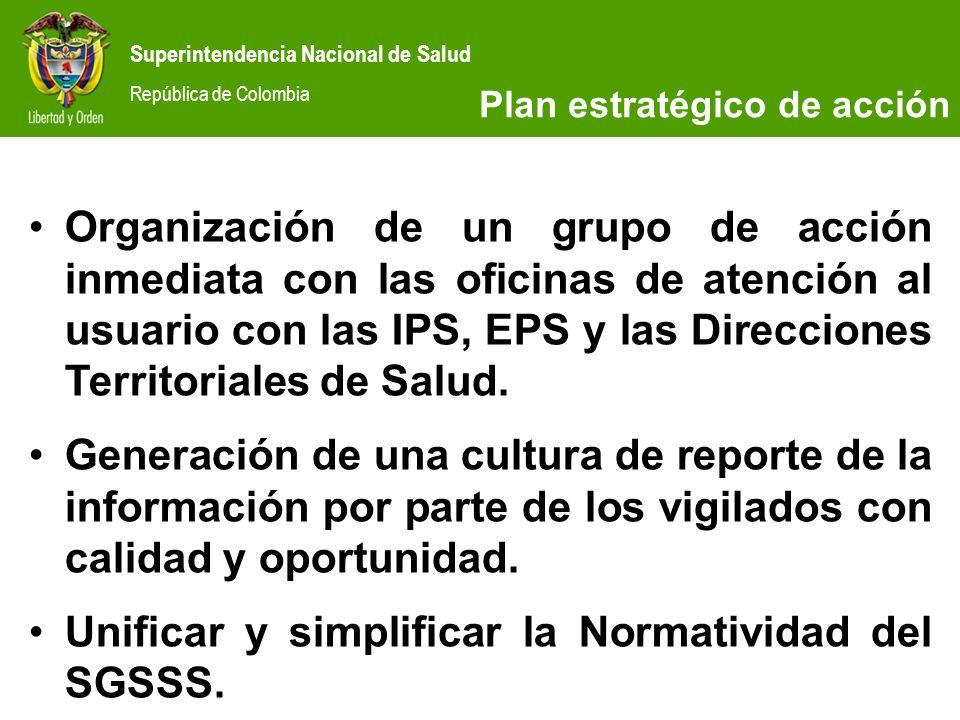 Unificar y simplificar la Normatividad del SGSSS.
