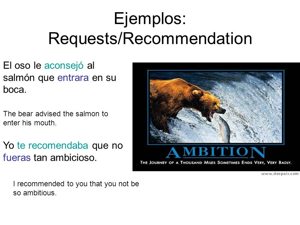 Ejemplos: Requests/Recommendation