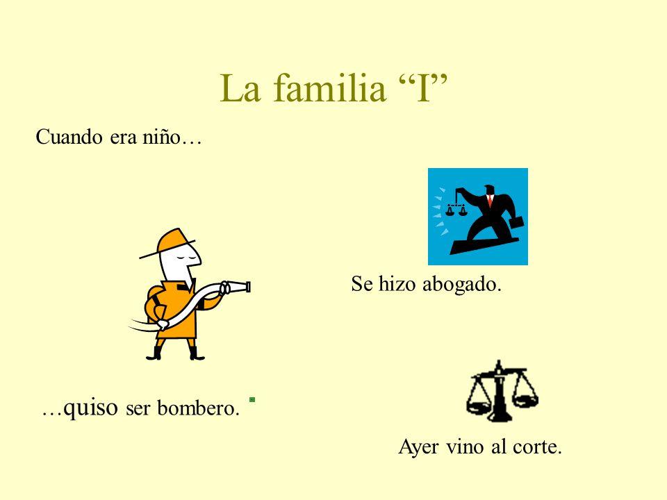 La familia I Cuando era niño… Se hizo abogado. …quiso ser bombero.