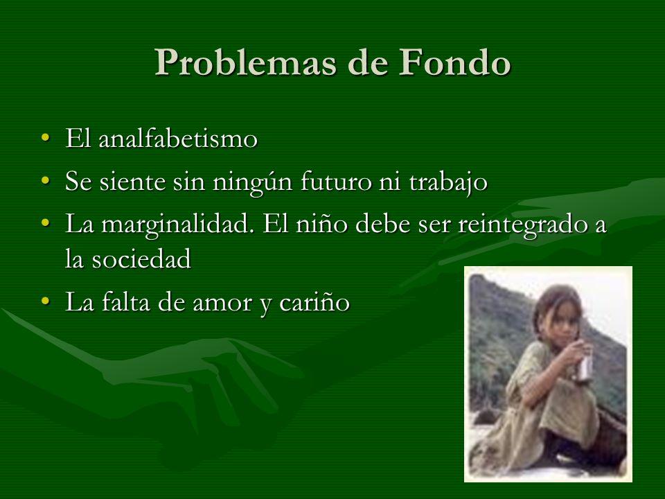 Problemas de Fondo El analfabetismo