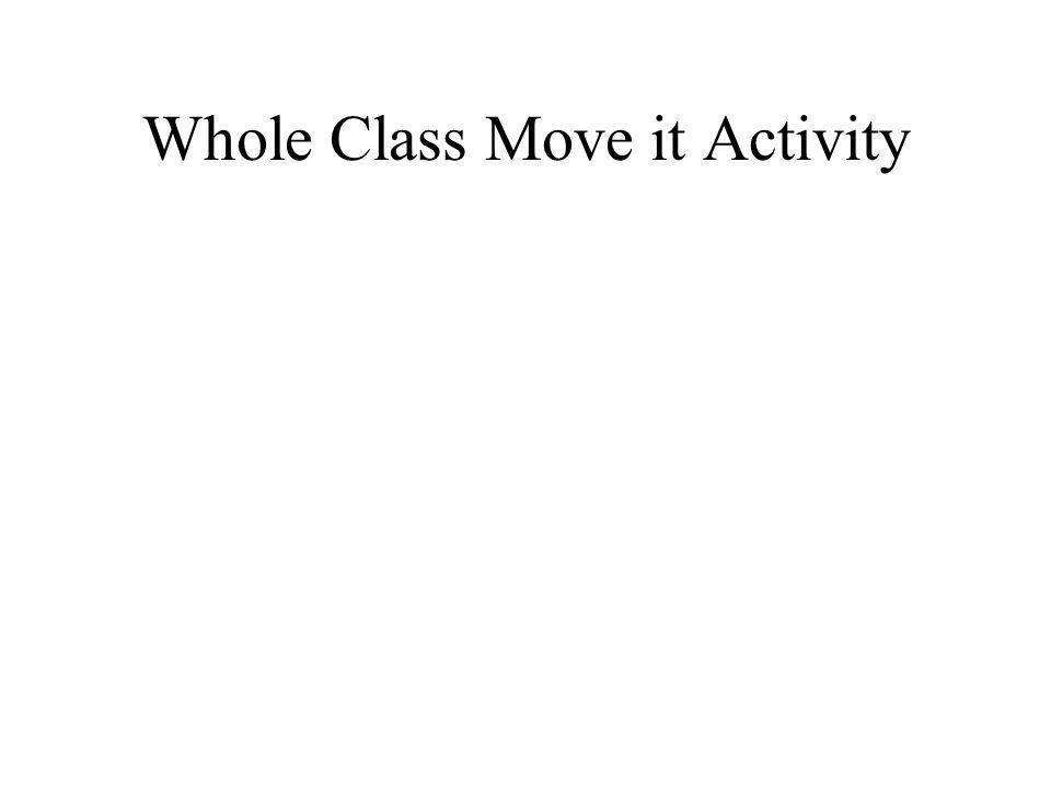 Whole Class Move it Activity