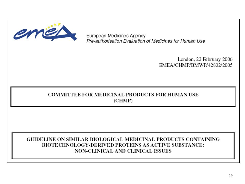 guideline on similar biological medicinal products chmp 437 04