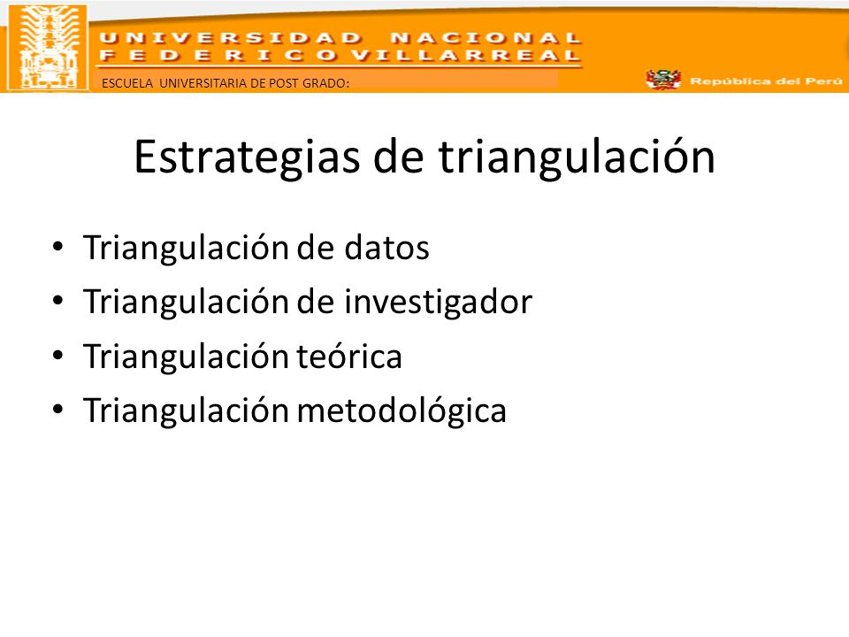Estrategias de triangulación