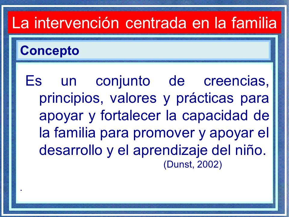 La intervenci n psicopedag gica en la discapacidad for Concepto de la familia para ninos