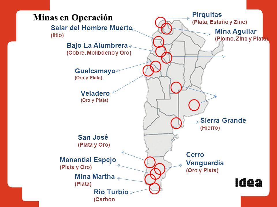 Minas en Operación Pirquitas Salar del Hombre Muerto Mina Aguilar