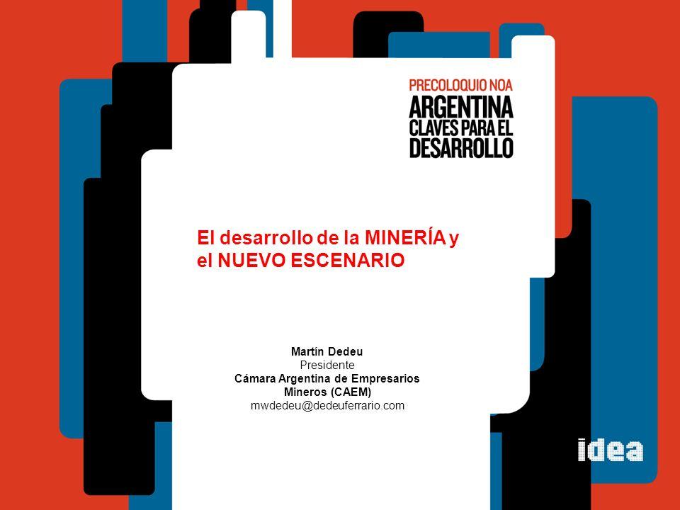 Presidente Cámara Argentina de Empresarios Mineros (CAEM)