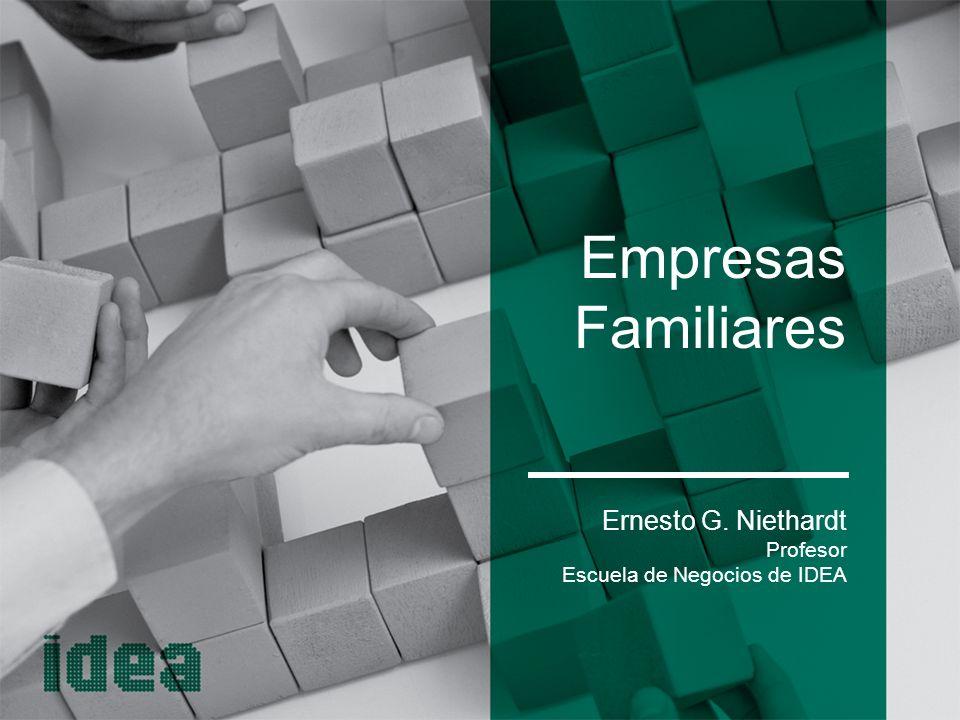 Empresas Familiares Ernesto G. Niethardt Profesor
