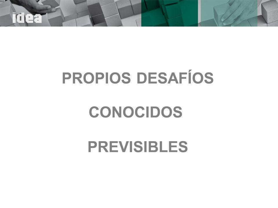 PROPIOS DESAFÍOS CONOCIDOS PREVISIBLES