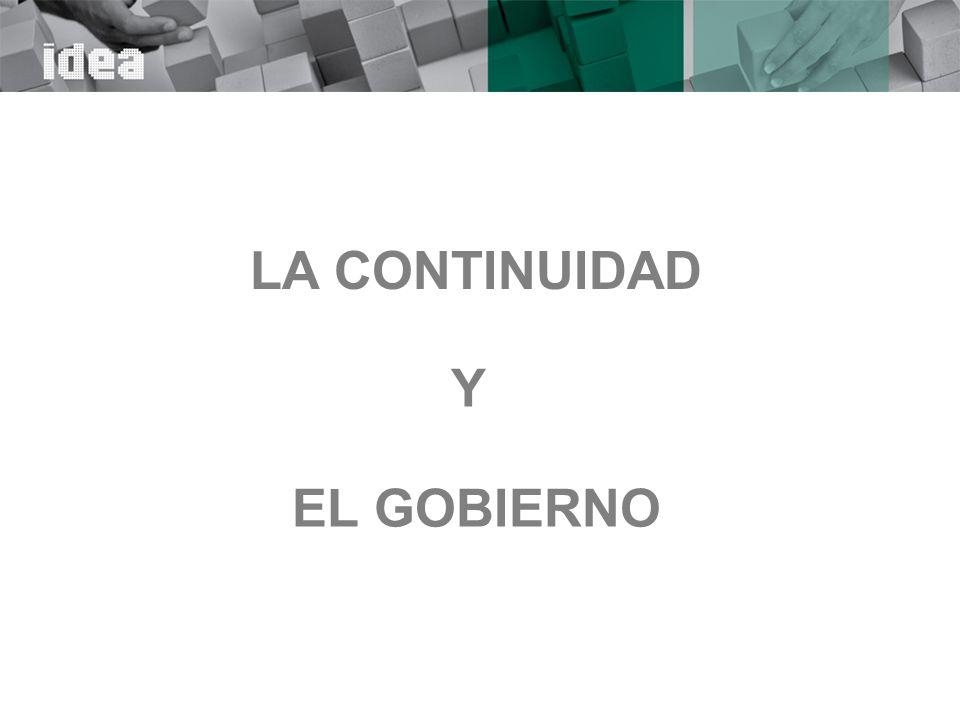 LA CONTINUIDAD Y EL GOBIERNO