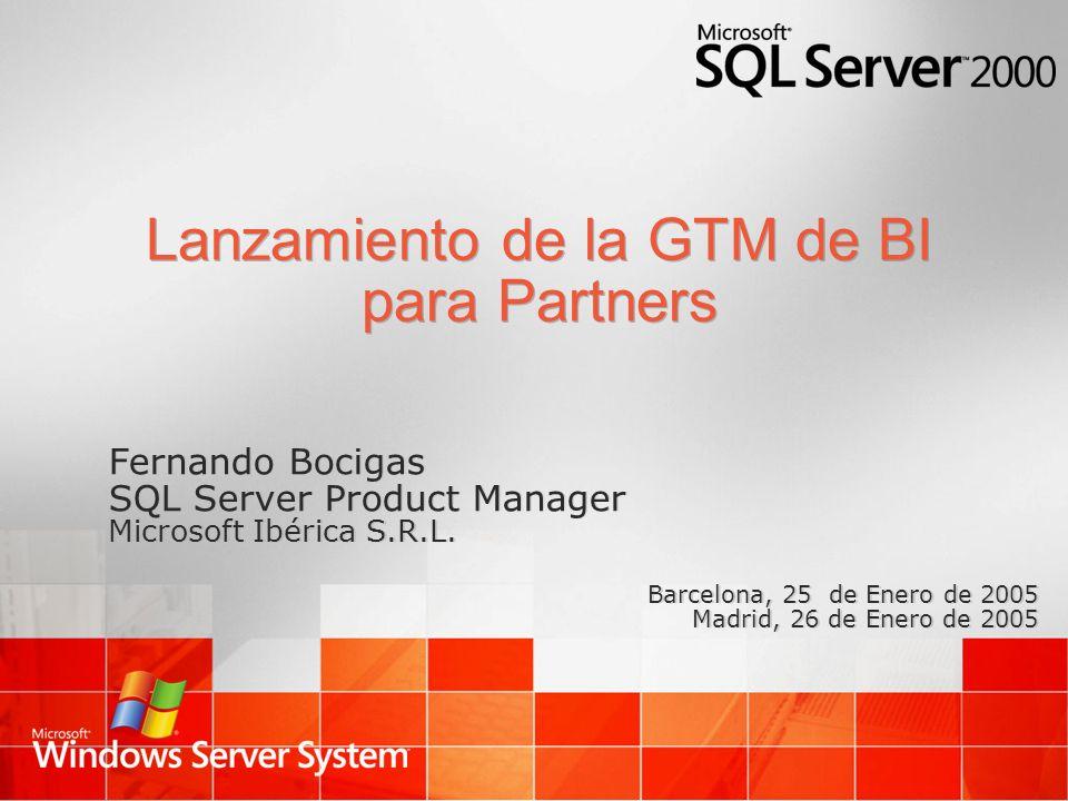 Lanzamiento de la GTM de BI para Partners
