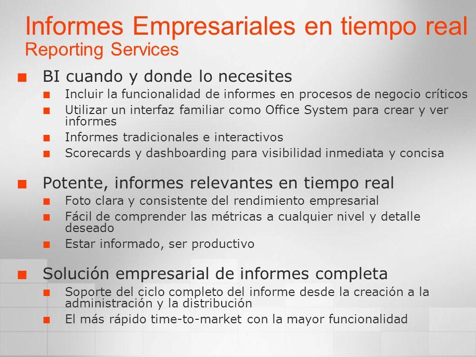 Informes Empresariales en tiempo real Reporting Services