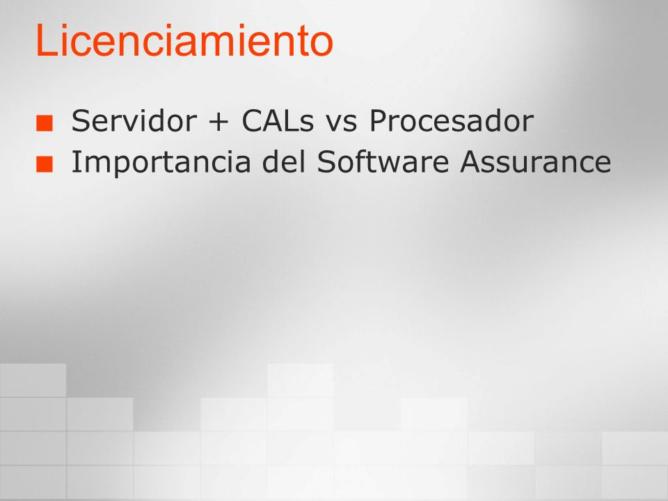 Licenciamiento Servidor + CALs vs Procesador
