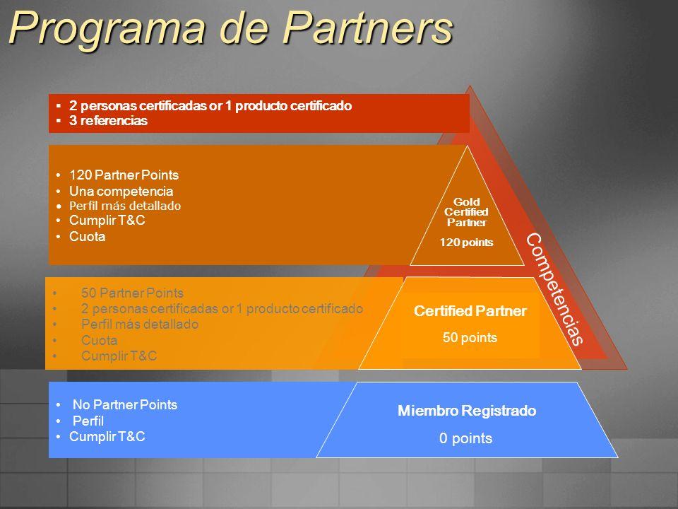 Programa de Partners Competencias Certified Partner Miembro Registrado