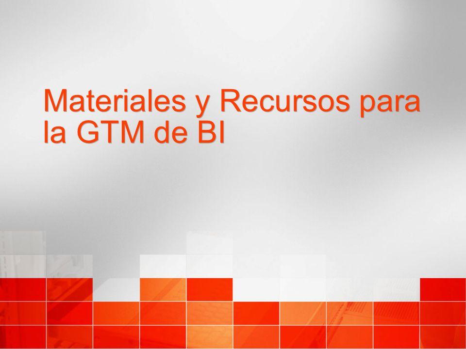 Materiales y Recursos para la GTM de BI