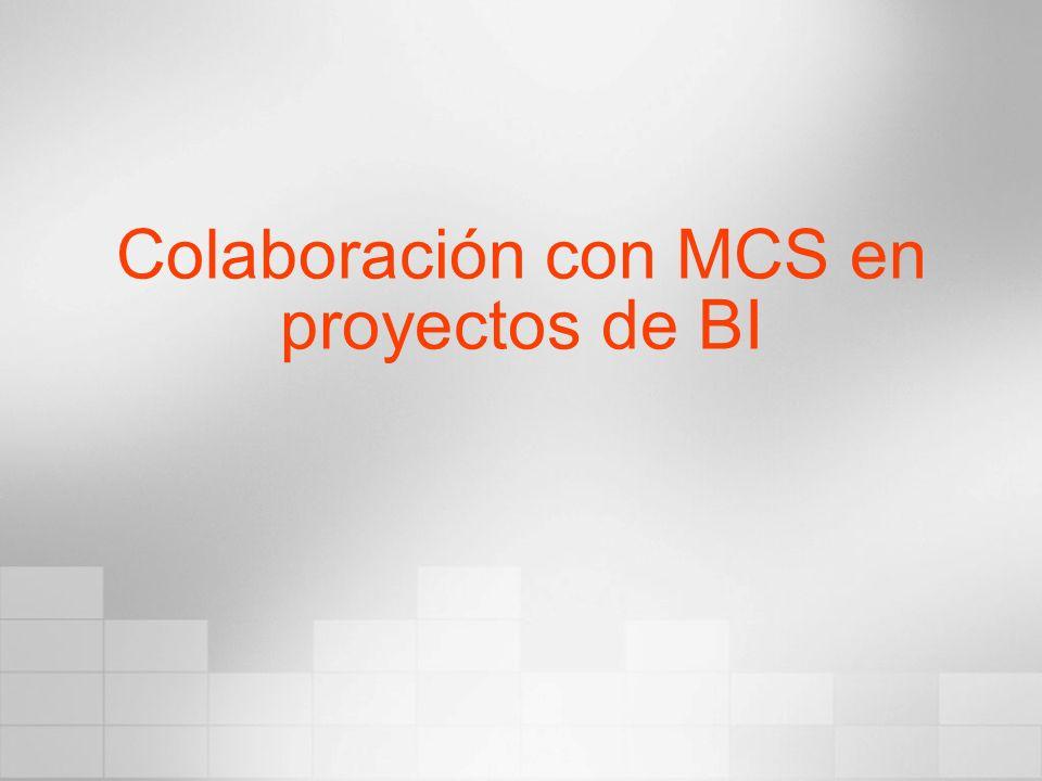 Colaboración con MCS en proyectos de BI
