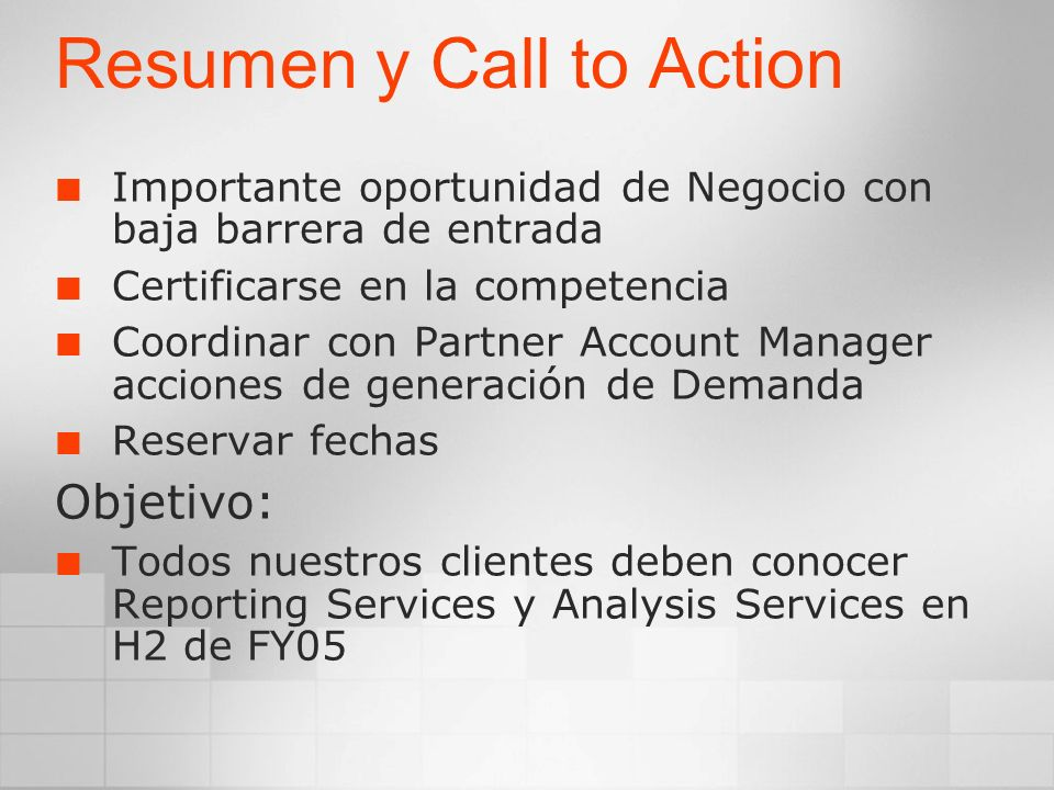 Resumen y Call to Action