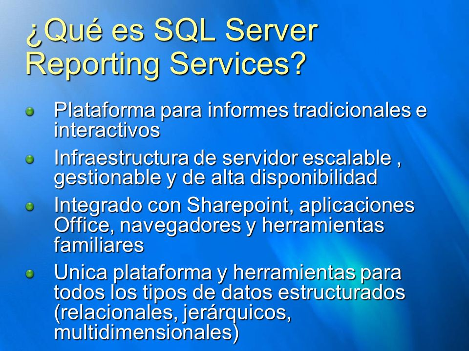 ¿Qué es SQL Server Reporting Services