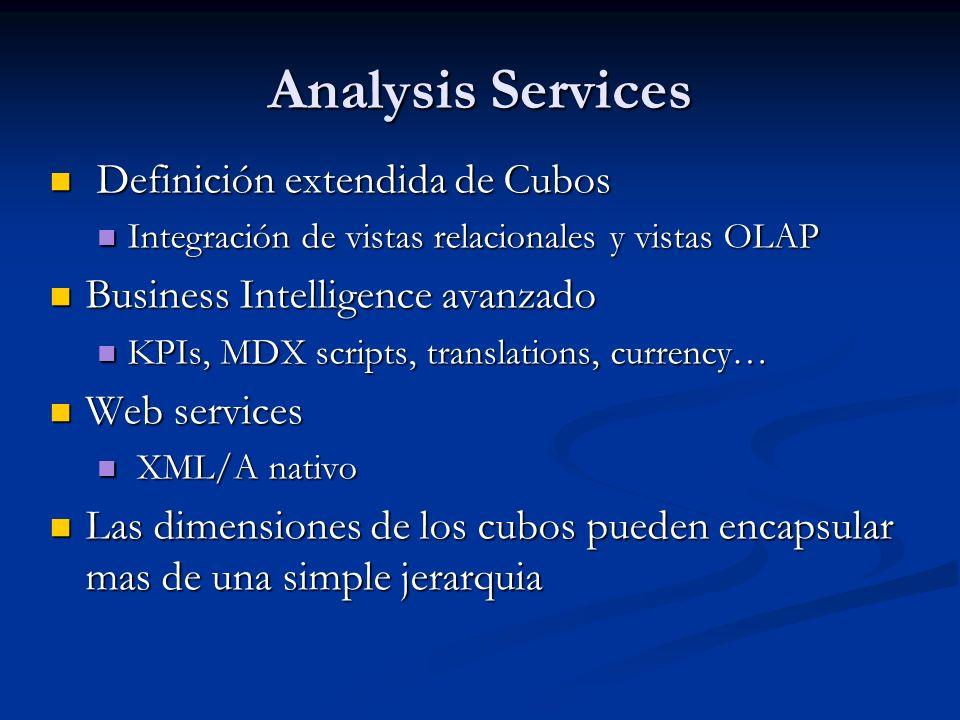 Analysis Services Definición extendida de Cubos