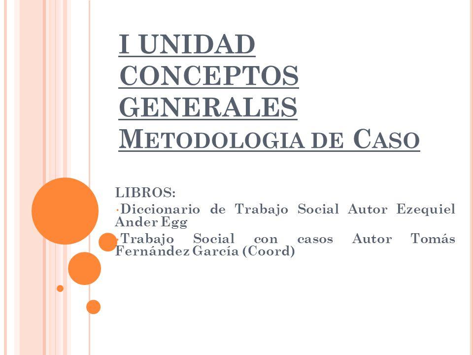 I unidad conceptos generales metodologia de caso ppt - Casos practicos trabajo social ...