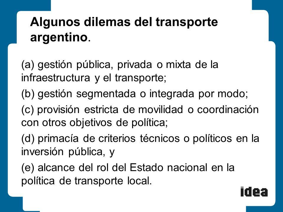 Algunos dilemas del transporte argentino.