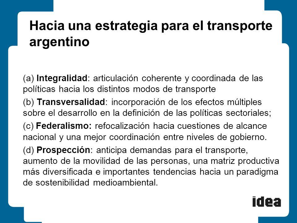 Hacia una estrategia para el transporte argentino