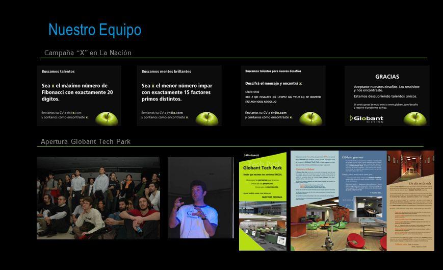 Nuestro Equipo 15 Campaña X en La Nación Apertura Globant Tech Park