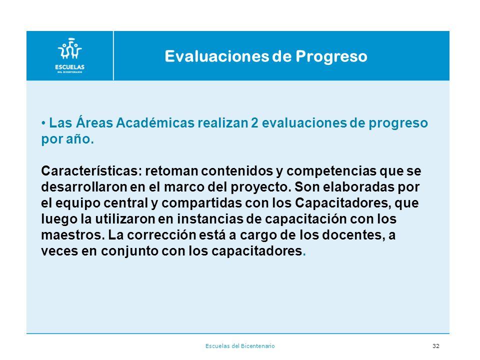 Evaluaciones de Progreso