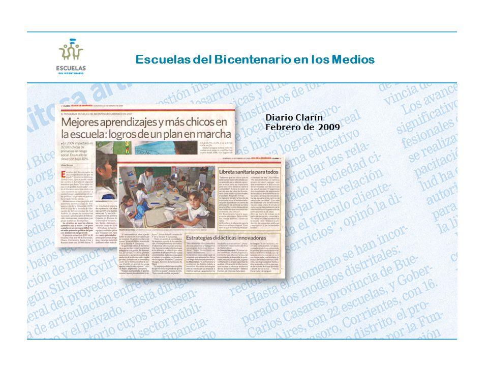 Escuelas del Bicentenario en los Medios