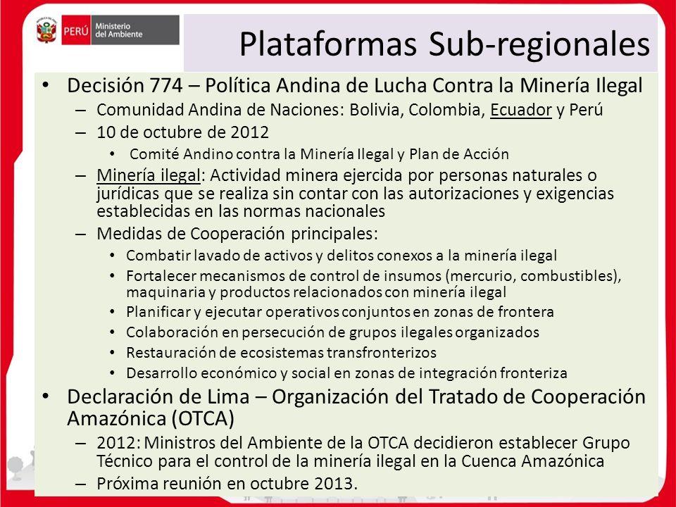 Plataformas Sub-regionales