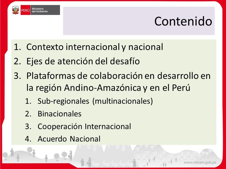 Contenido Contexto internacional y nacional