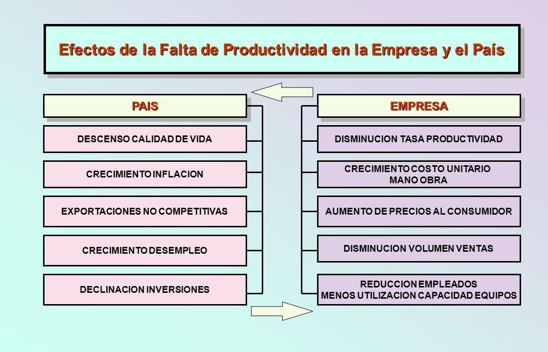 Efectos de la Falta de Productividad en la Empresa y el País