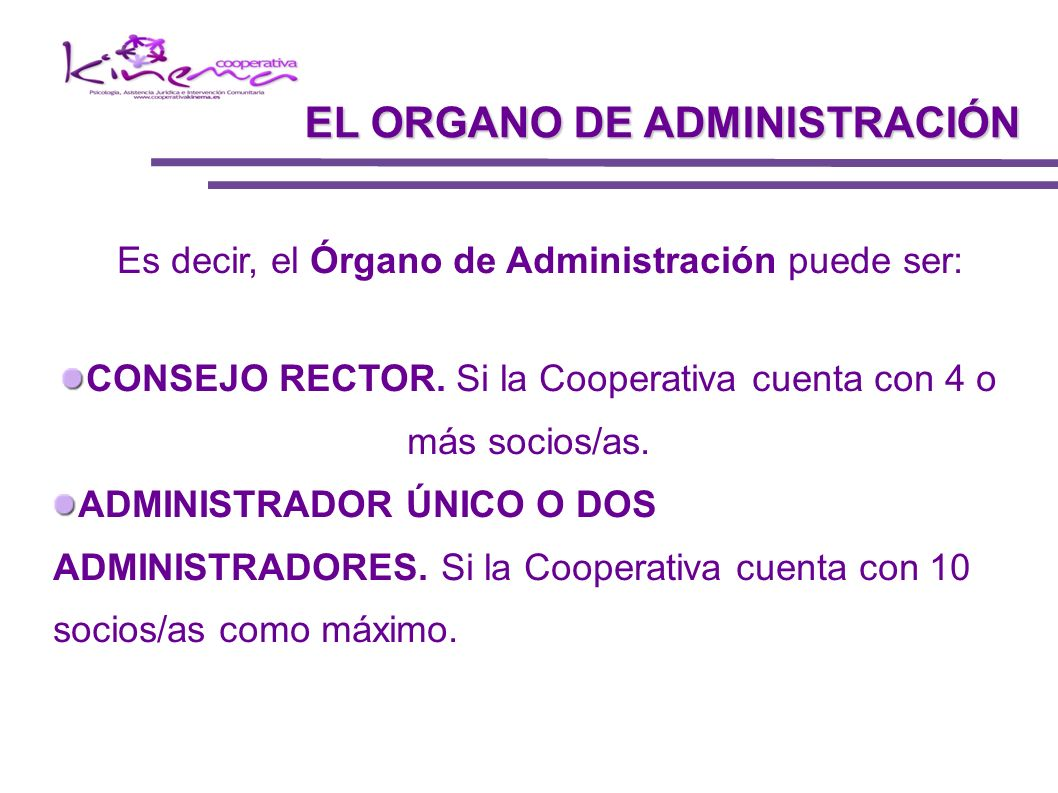 EL ORGANO DE ADMINISTRACIÓN